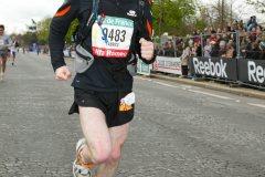 Marathon de Paris parmi 40 000 participants
